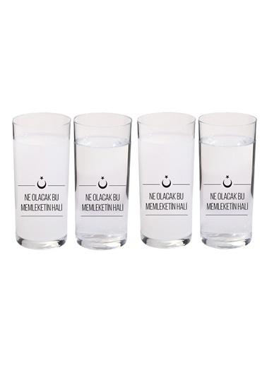4 Lü İçelim Bardak Seti Ne Olacak Bu Memleketin Hali-Joy Glass
